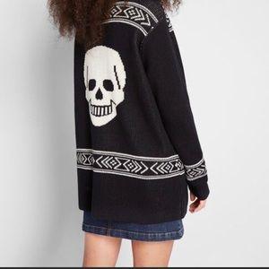"""Modcloth """"Skull"""" Cardigan"""